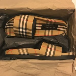 100% Authentic Burberry Flip Flops